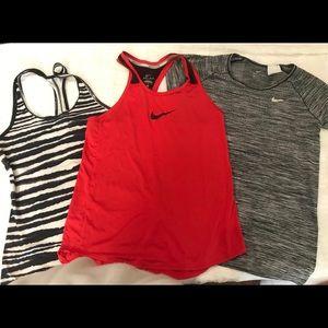 Nike running tops, bundle of 3